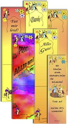 Winesy Grußkarten 6 verschiedenen Motive