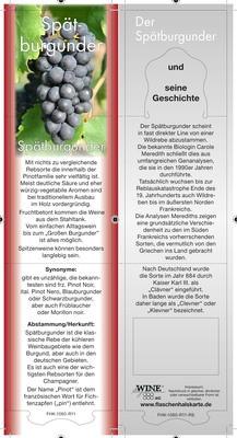 Rebsortenkarte Spätburgunder VPE 15 Stück