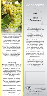Rebsortenkarte Johanniter (PIWI) VPE 15 Stück